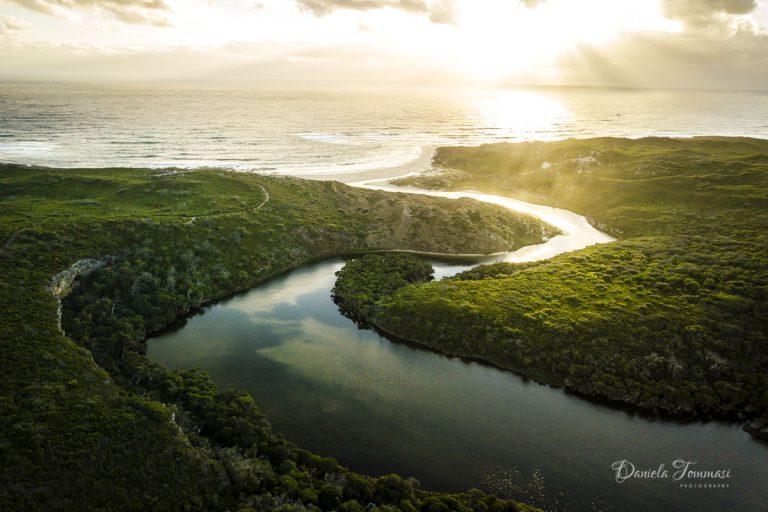 Sunset-River - Aerial - Daniela Tommasi Photography